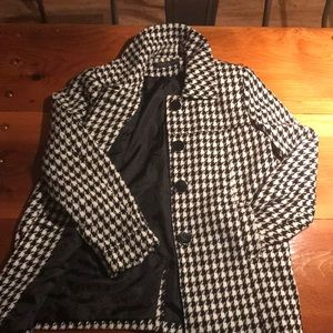 Harve Bernard houndstooth jacket . 50's style